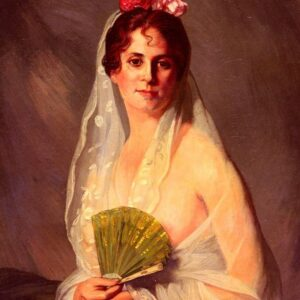 A lady with a fan - Eduardo Zamacois y Zabala