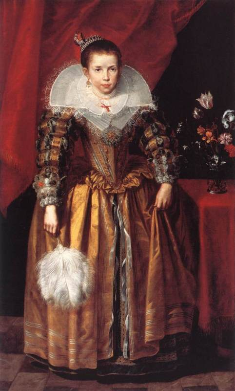 Portrait of a girl at the age of 10 - Cornelis de Vos