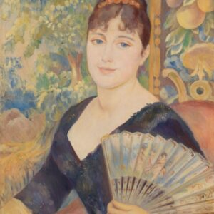 Woman with a fan - Pierre-Auguste Renoir