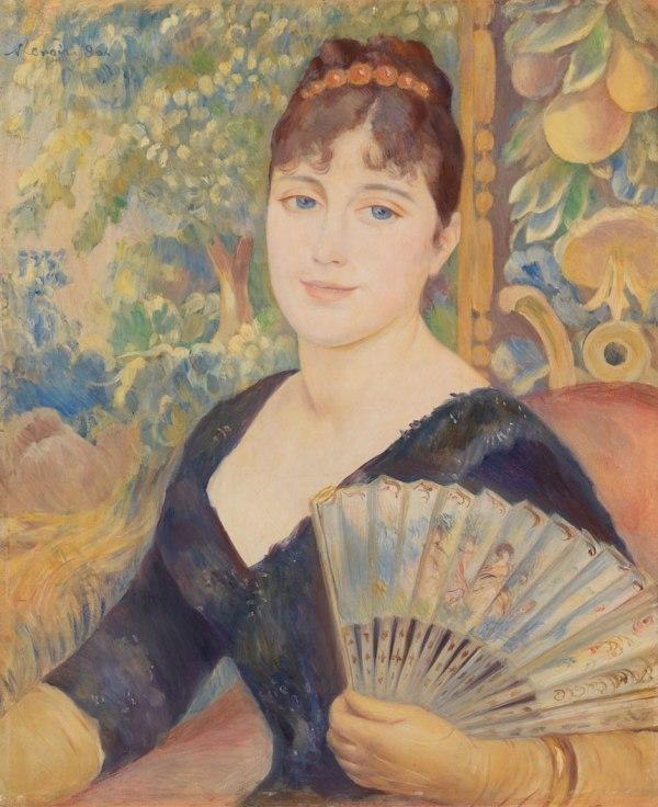 Woman with a fan - Pierre-Auguste Renoir