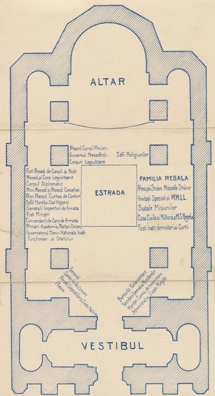 Planul bisericii Încoronării