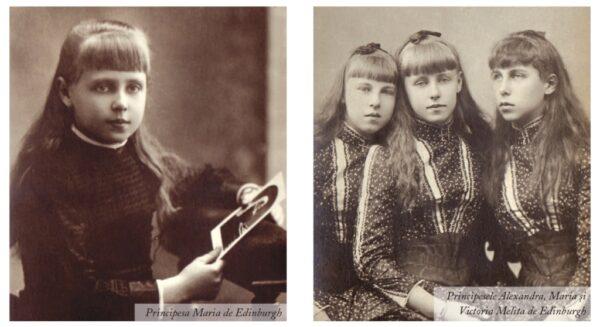 Principesele Alexandra, Maria și Victoria Melita de Edinburgh